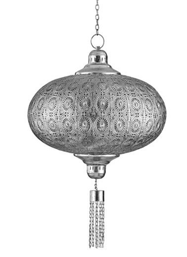 Cemile Antik Sılver Sarkıt Avıze 50X50X46 Cm Gümüş